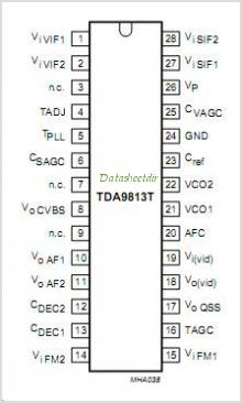 TDA9813T pinout,Pin out