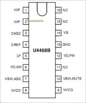 U4468B pinout,Pin out