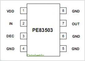 PE83503 pinout,Pin out