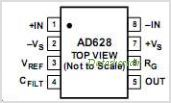 AD628ARM-REEL pinout,Pin out