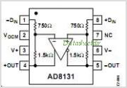 AD8131 pinout,Pin out