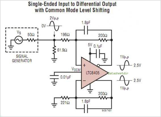 LTC6405IUD circuits