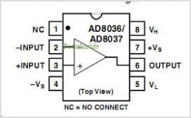AD8037AR pinout,Pin out