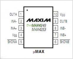 MAX4249 pinout,Pin out