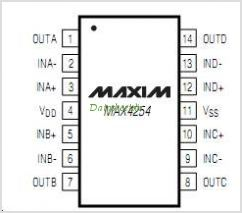 MAX4254 pinout,Pin out