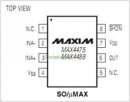 MAX4475ASA pinout,Pin out