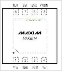 MAX2014 pinout,Pin out