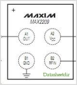 MAX2209 pinout,Pin out
