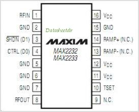 MAX2232 pinout,Pin out