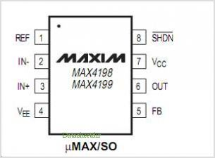 MAX4198 pinout,Pin out