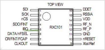 RXC101 pinout,Pin out