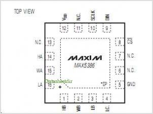 MAX5386 pinout,Pin out
