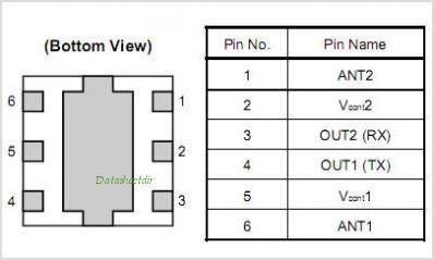 UPG2185T6R pinout,Pin out