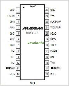 MAX1101 pinout,Pin out