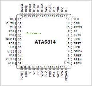 ATA6814 pinout,Pin out
