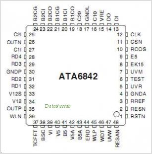 ATA6842 pinout,Pin out