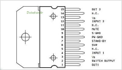 TDA7365 pinout,Pin out