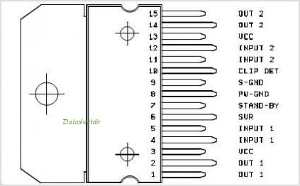 TDA7374 pinout,Pin out