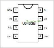 U6433B pinout,Pin out