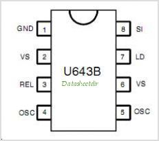 U643B pinout,Pin out
