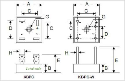 KBPC35 pinout kbpc3510 datasheet, pinout ,application circuits 35a single phase kbpc3510 wiring diagram at fashall.co