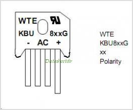 KBU801G pinout,Pin out