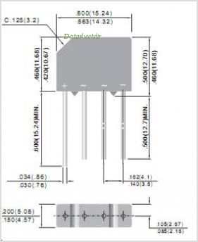 2KBP005M pinout,Pin out