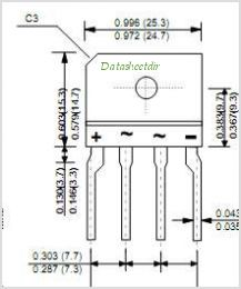 RBV401 pinout,Pin out