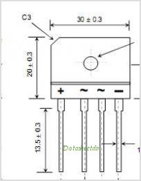 RBV5006 pinout,Pin out