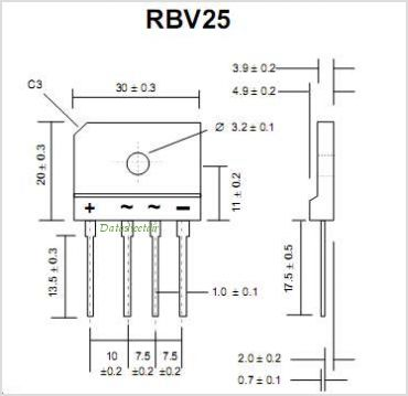 RBV1010 pinout,Pin out