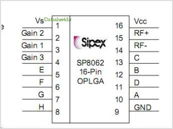 SP8062 pinout,Pin out