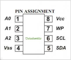 IN24AA02 pinout,Pin out