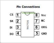 IN93LC46 pinout,Pin out