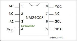 NM24C09 pinout,Pin out