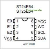 ST25E64 pinout,Pin out