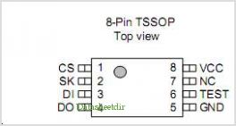 S-93C86B pinout,Pin out