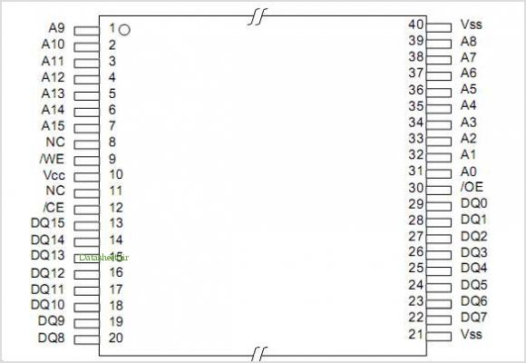 LE28F1101T-40 pinout,Pin out