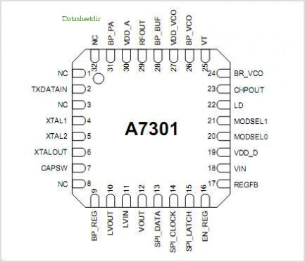 A7301 pinout,Pin out