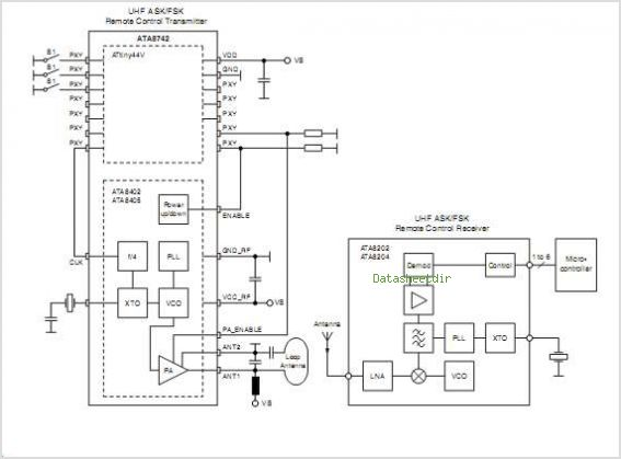 Ata8742 Datasheet Pinout Application Circuits Microcontroller With