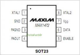 MAX1472 pinout,Pin out