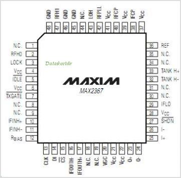 MAX2367 pinout,Pin out