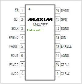 MAX7057 pinout,Pin out