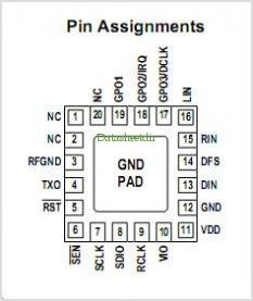 SI4711 pinout,Pin out