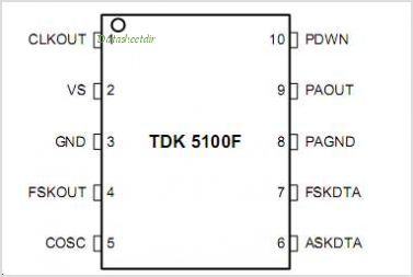 TDK5100F pinout,Pin out