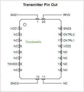 TX5003 pinout,Pin out