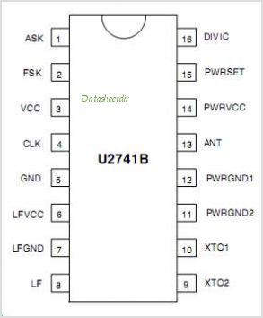U2741B pinout,Pin out