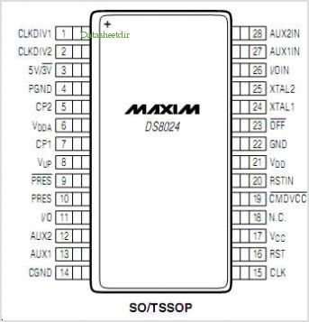 DS8024 pinout,Pin out