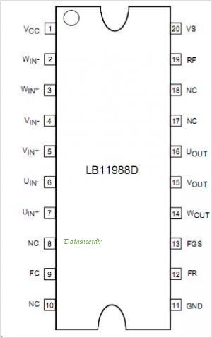 LB11988D pinout,Pin out