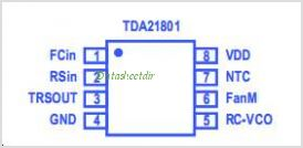 TDA21801 pinout,Pin out