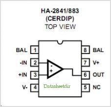 HA-2841 pinout,Pin out